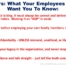 what employees want you to know